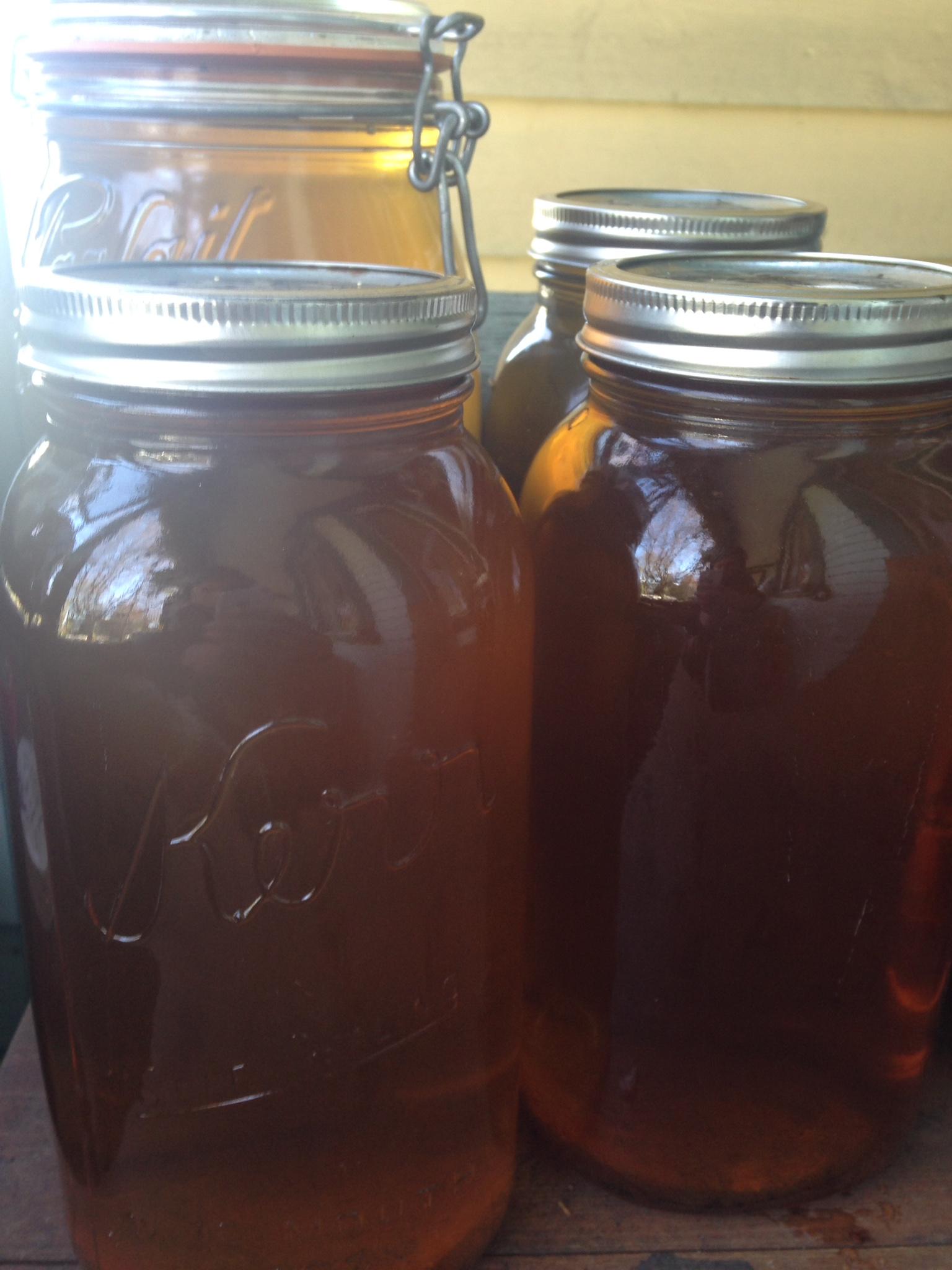 Finished jars of mordant!!