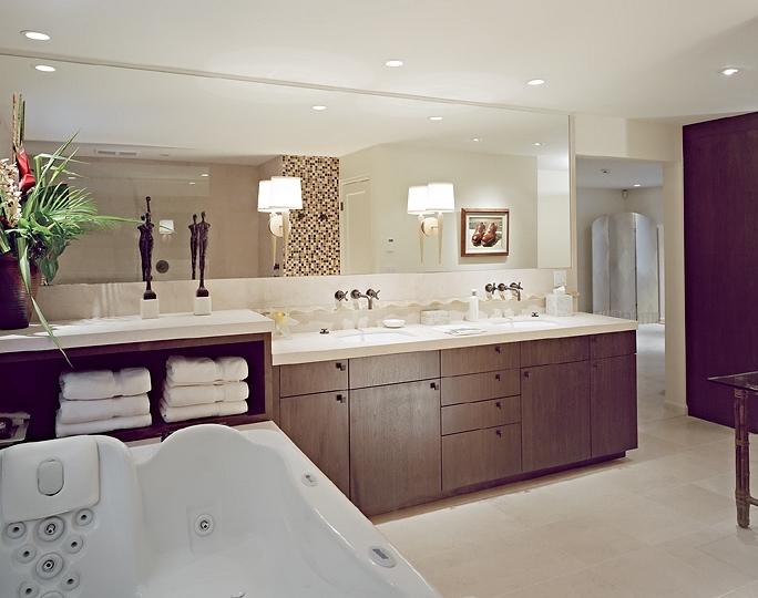 Expansive master bathroom