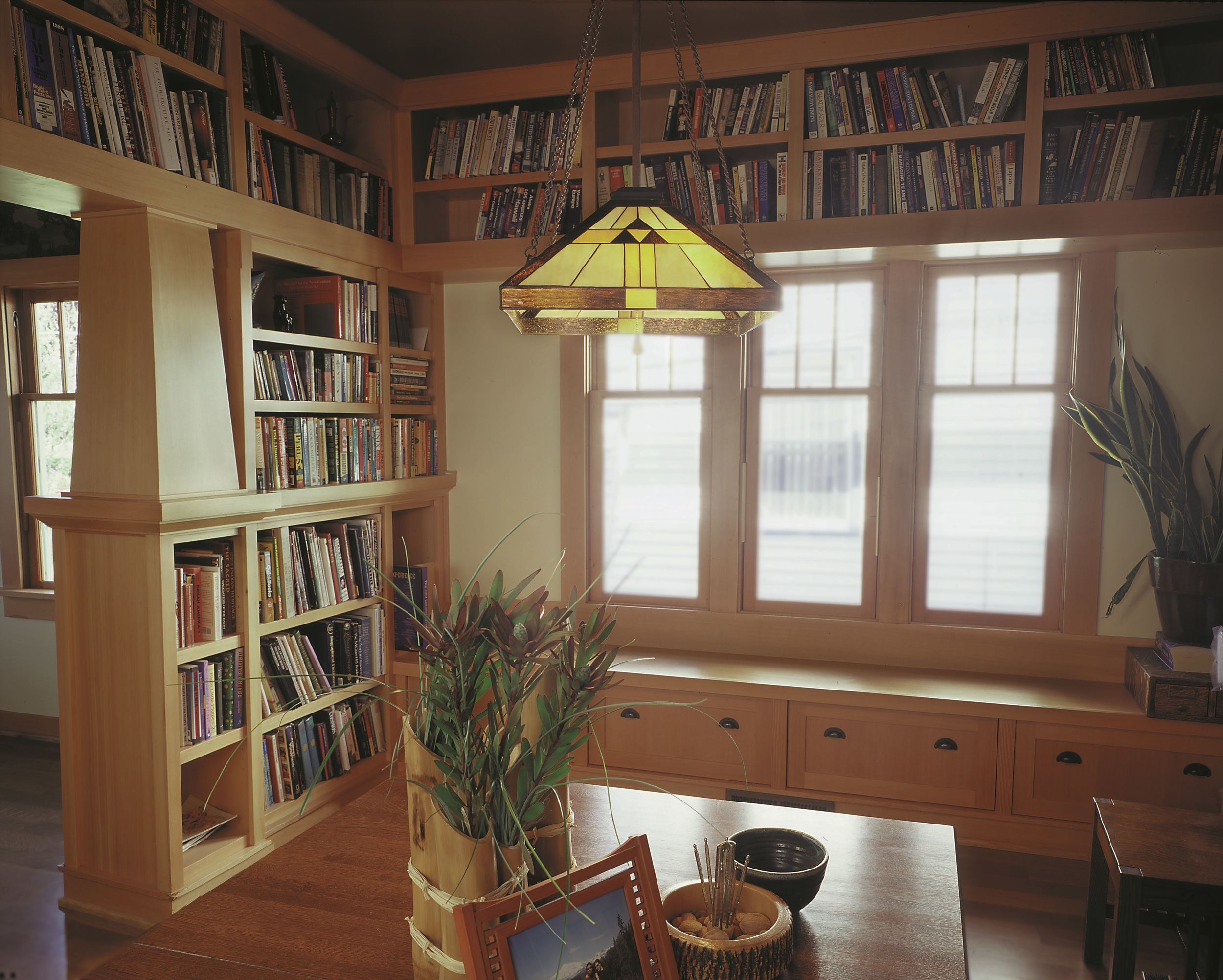 Craftsman dining room and library