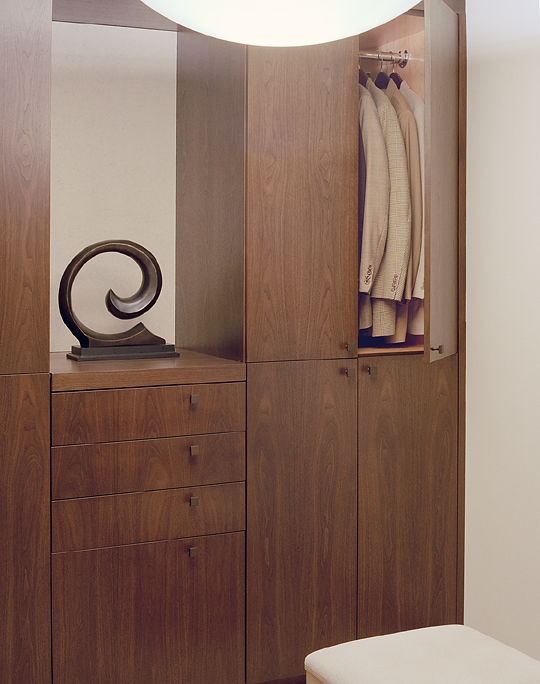 Walnut contemporary closet