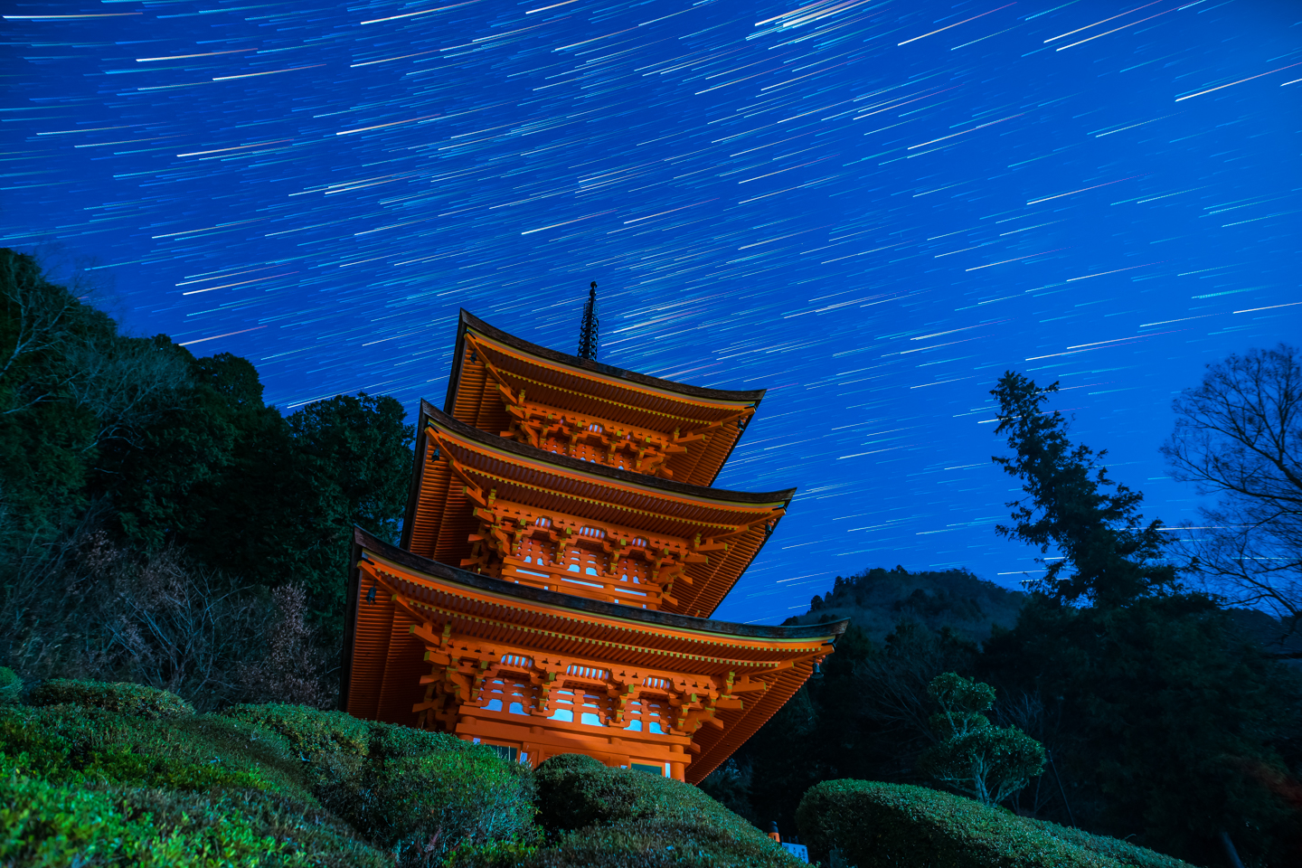 Images of whirling star trails over Chofukuji Temple in Okayama - Lonely Planet Travel News. Article by James Gabriel Martin. Photographs by Tdub