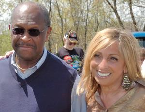 with Herman Cain