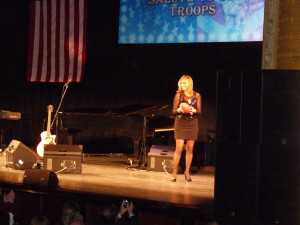 Rose with Hannity's Troop Appreciation Show