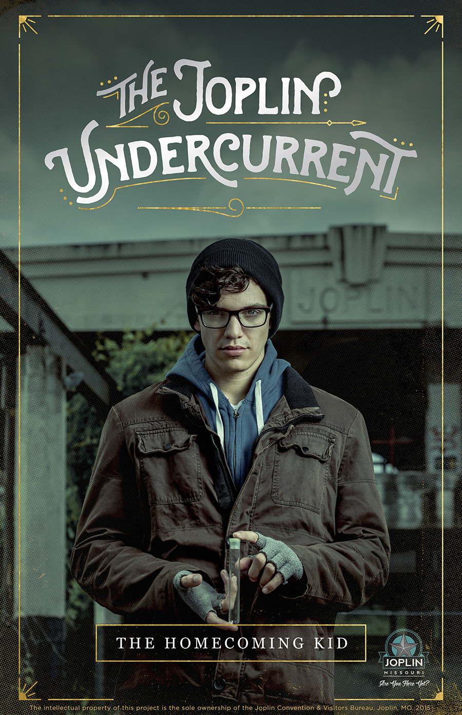 "poster 1 for ""the Joplin Undercurrent""- the homecoming kid. Poster design by Lauren White"