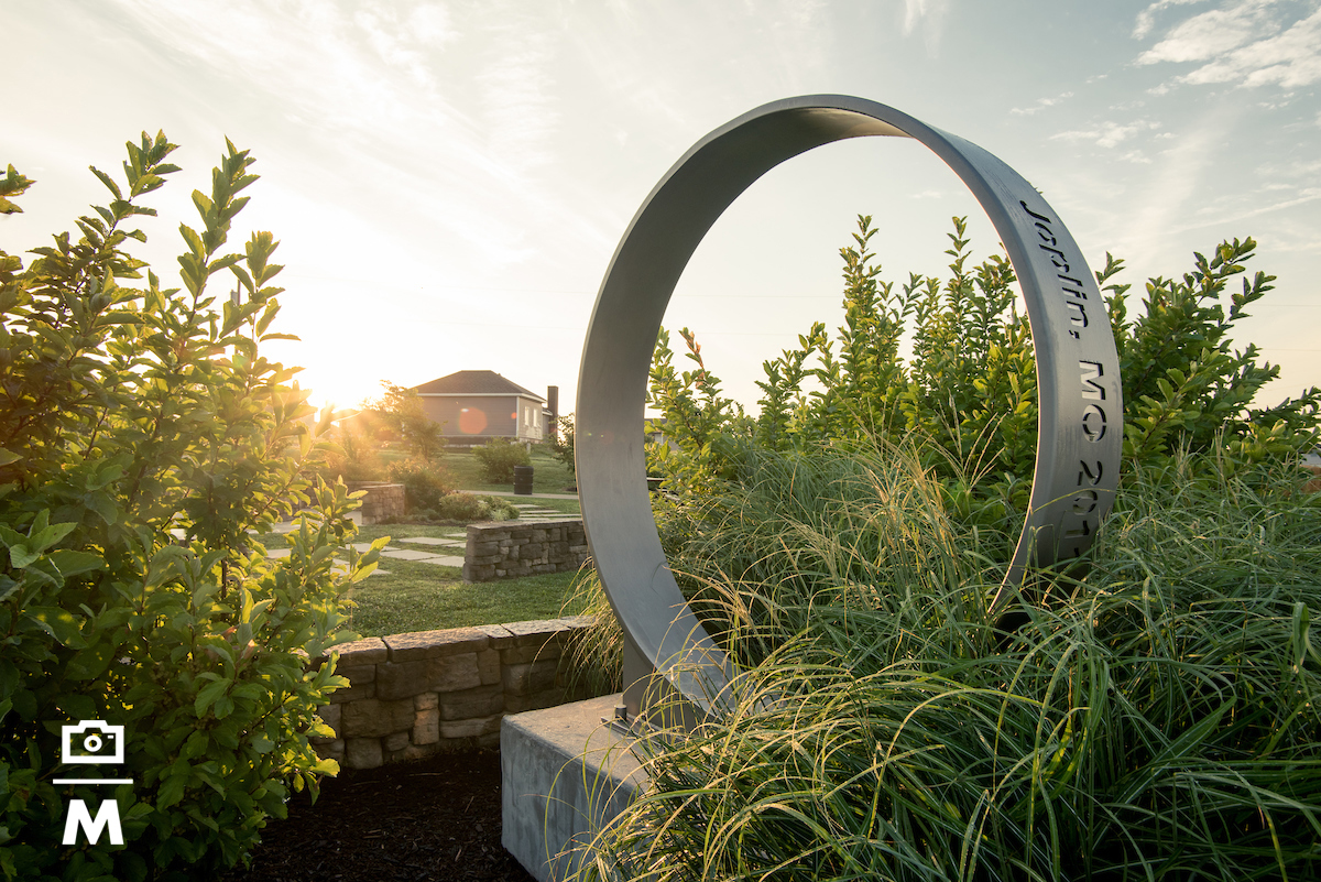 images from heart of the city of Joplin. Parks, schools, trails, memorials, and more.