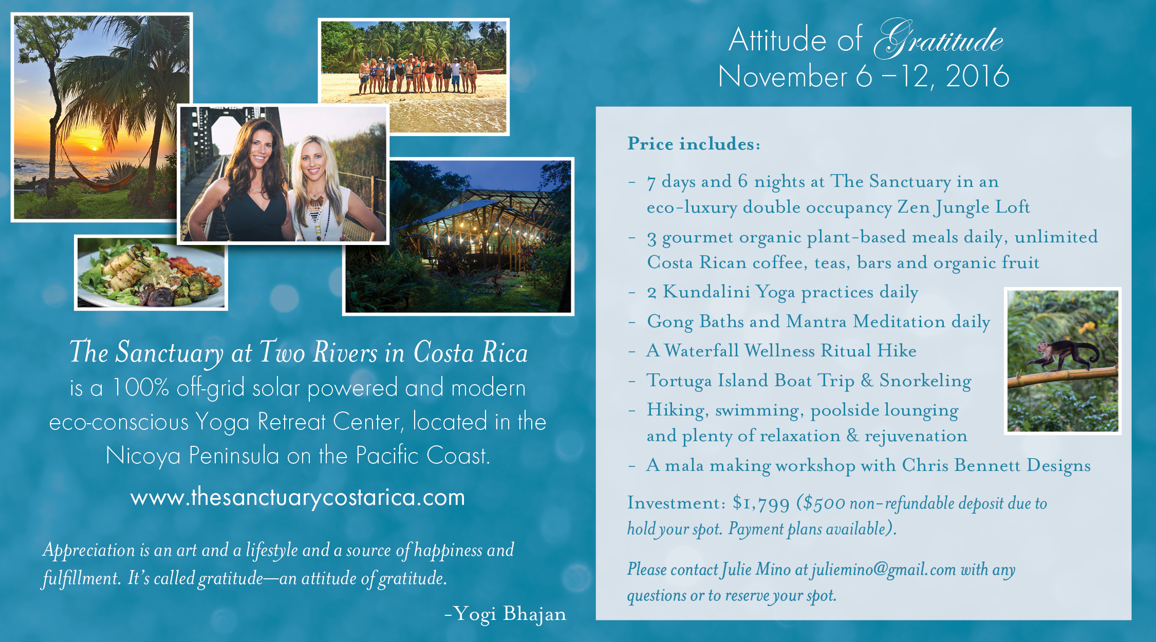 kundalini yoga retreat costa rica November 6-12, 2016