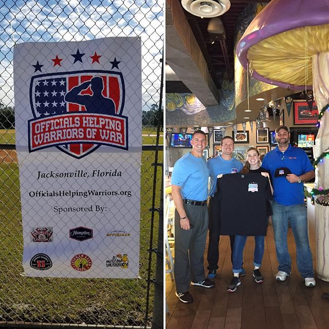 Mellow Mushroom Thank you so much for all your support of the Officials Helping Warriors of War (OHWOW) organization in our first Baseball Umpire Clinic in Jacksonville, FL. We appreciate your generosity in keeping these guys fed during the long days on the field and instruction in the evenings. Can't wait to get these guys out umpiring baseball on a field near you. #OHWOW #jobsforvets #news4jax