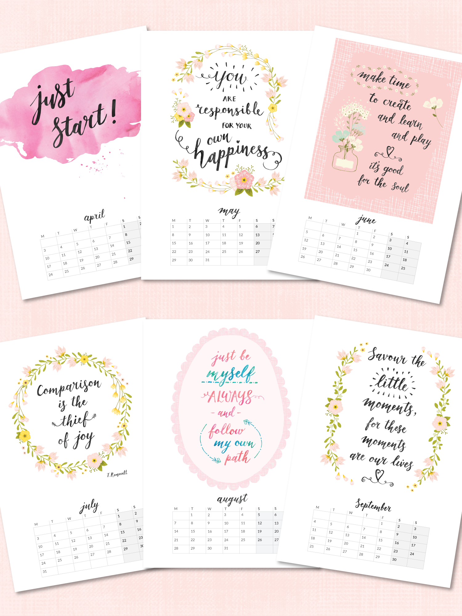 Inspirational Quotes printable calendar 2017.png