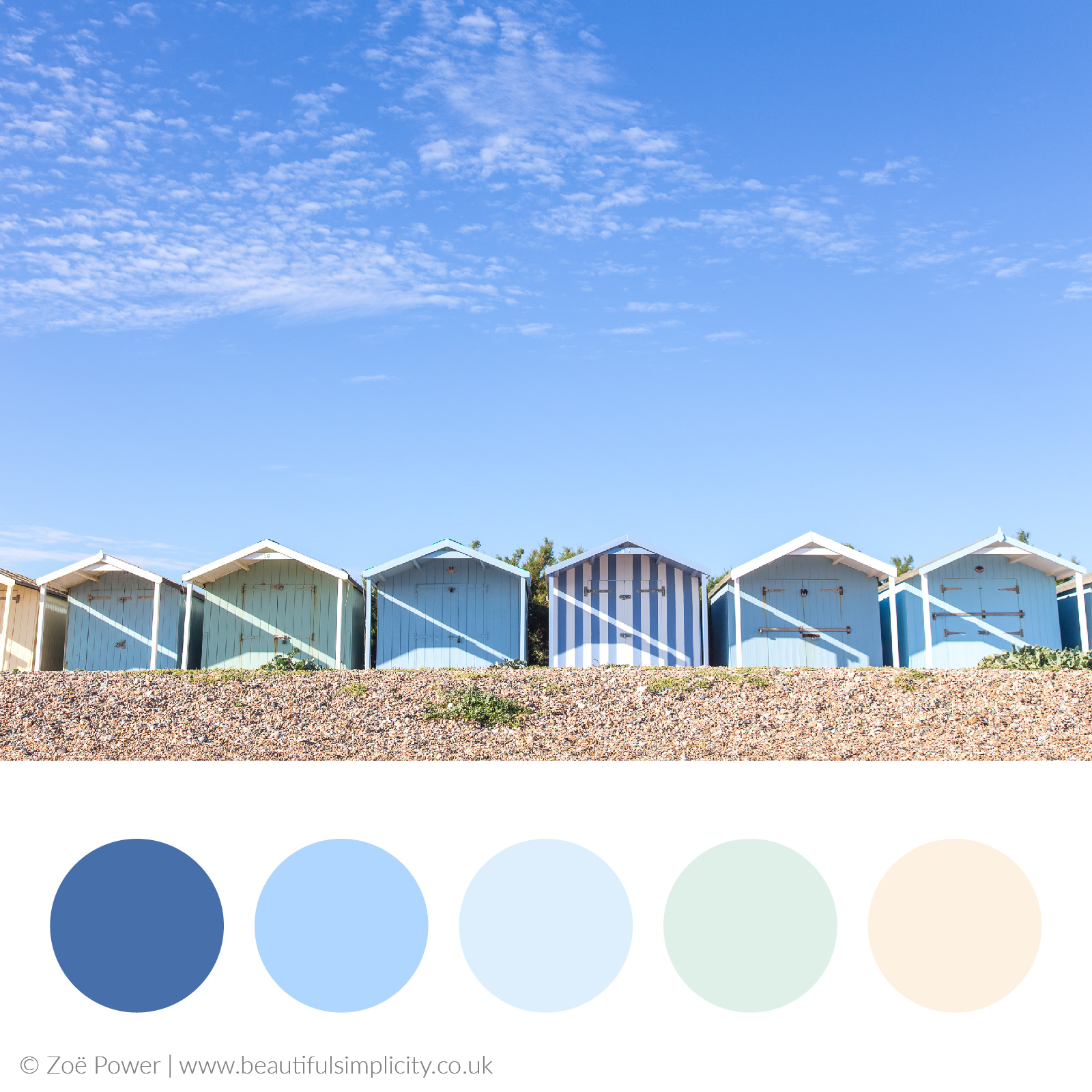 Beach hut blues colour palette