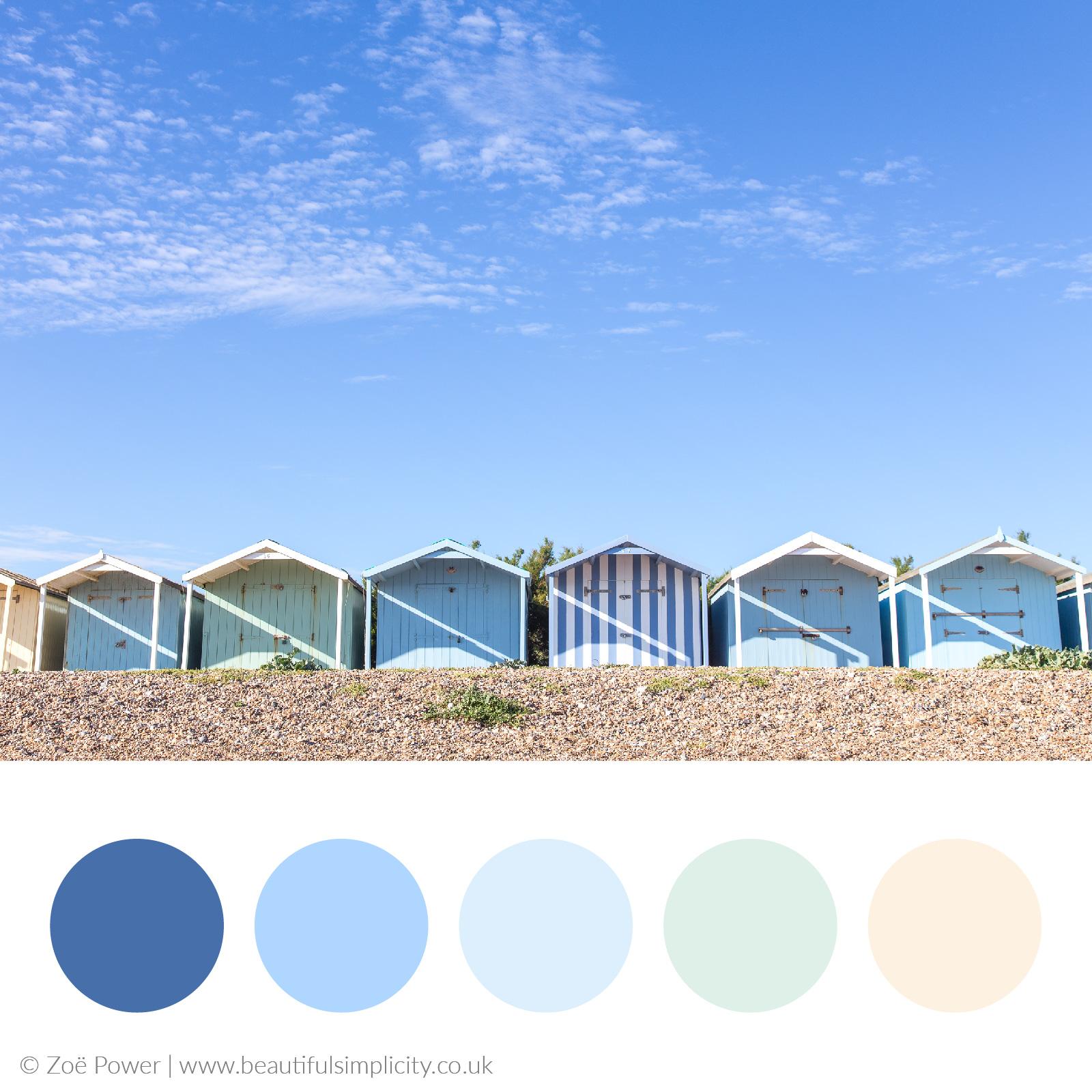 Beach hut blues colour palette