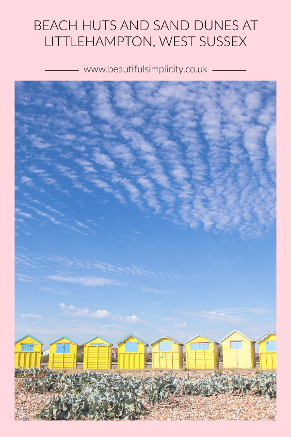 Beach huts and sand dunes at Littlehampton, West Sussex | www.beautifulsimplicity.co.uk