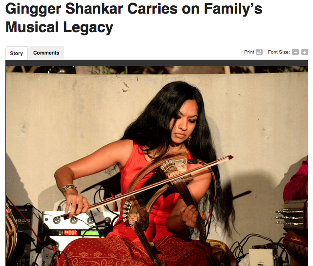 India West: Gingger Shankar Carries on Family's Musical Legacy