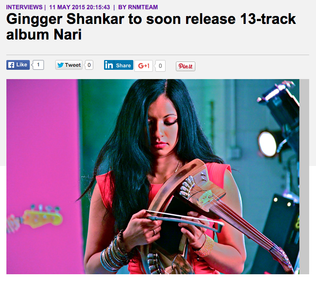 Radio & Music: Gingger Shankar to soon release 13-track album Nari