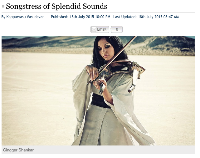 New Indian Express: Songstress of Splendid Sounds