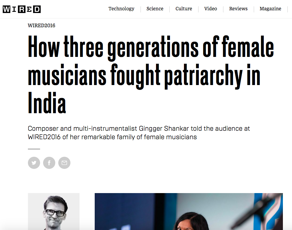 WIRED: How three generations of female musicians fought patriarchy in India