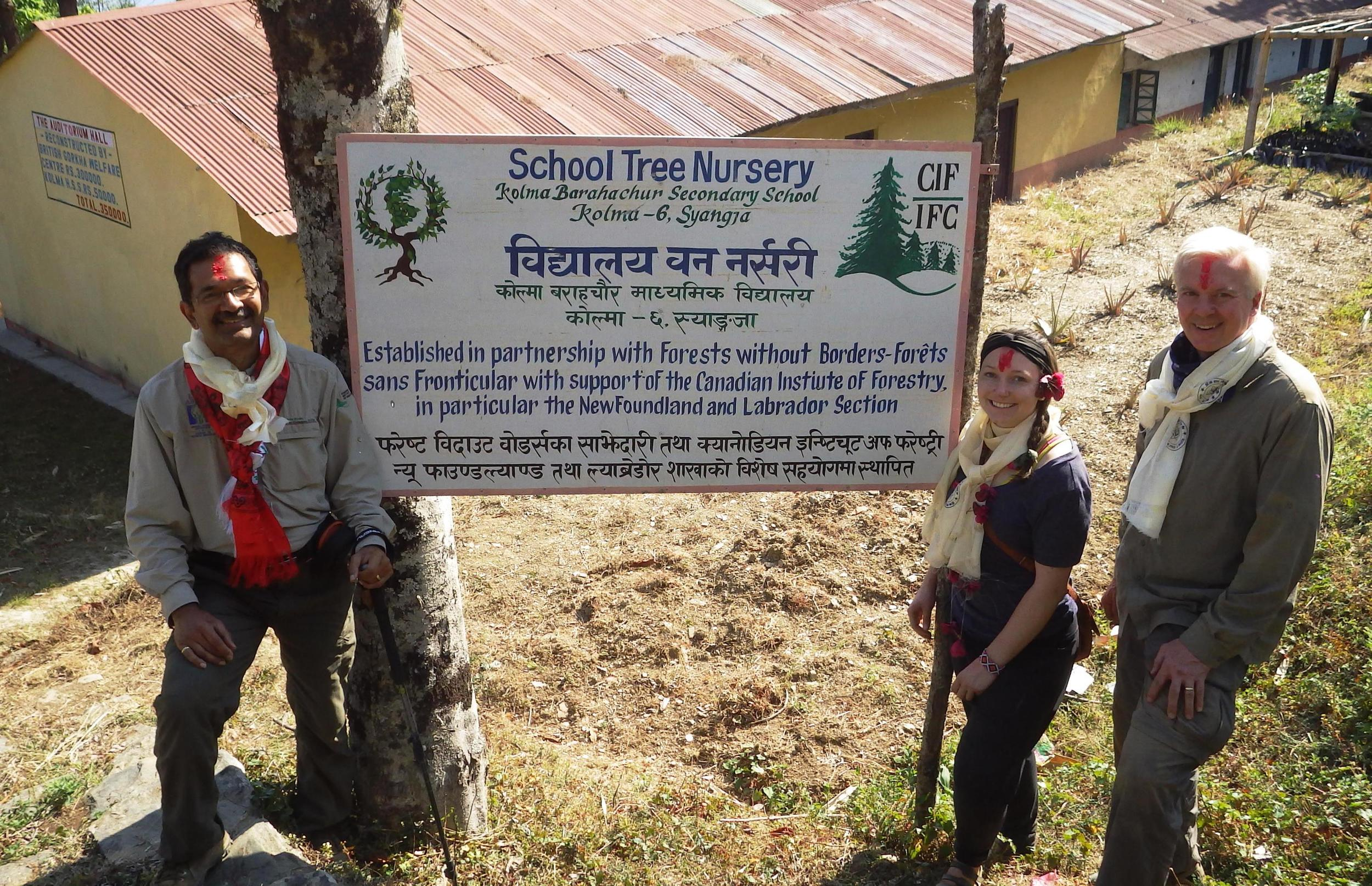 Forests without Borders School tree nursery in Nepal