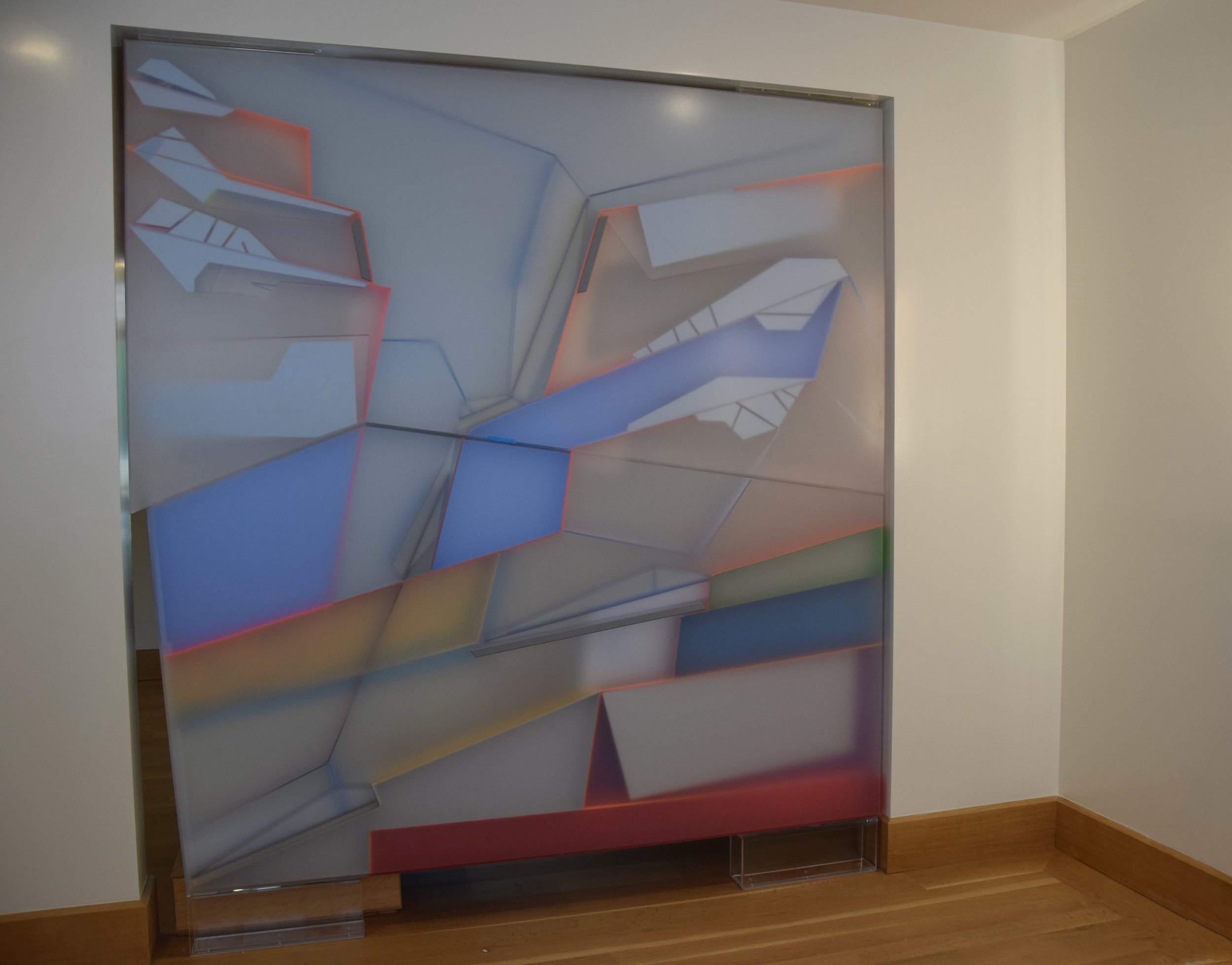 "Kal Mansur, 84"" x 96"" (double-sided)"