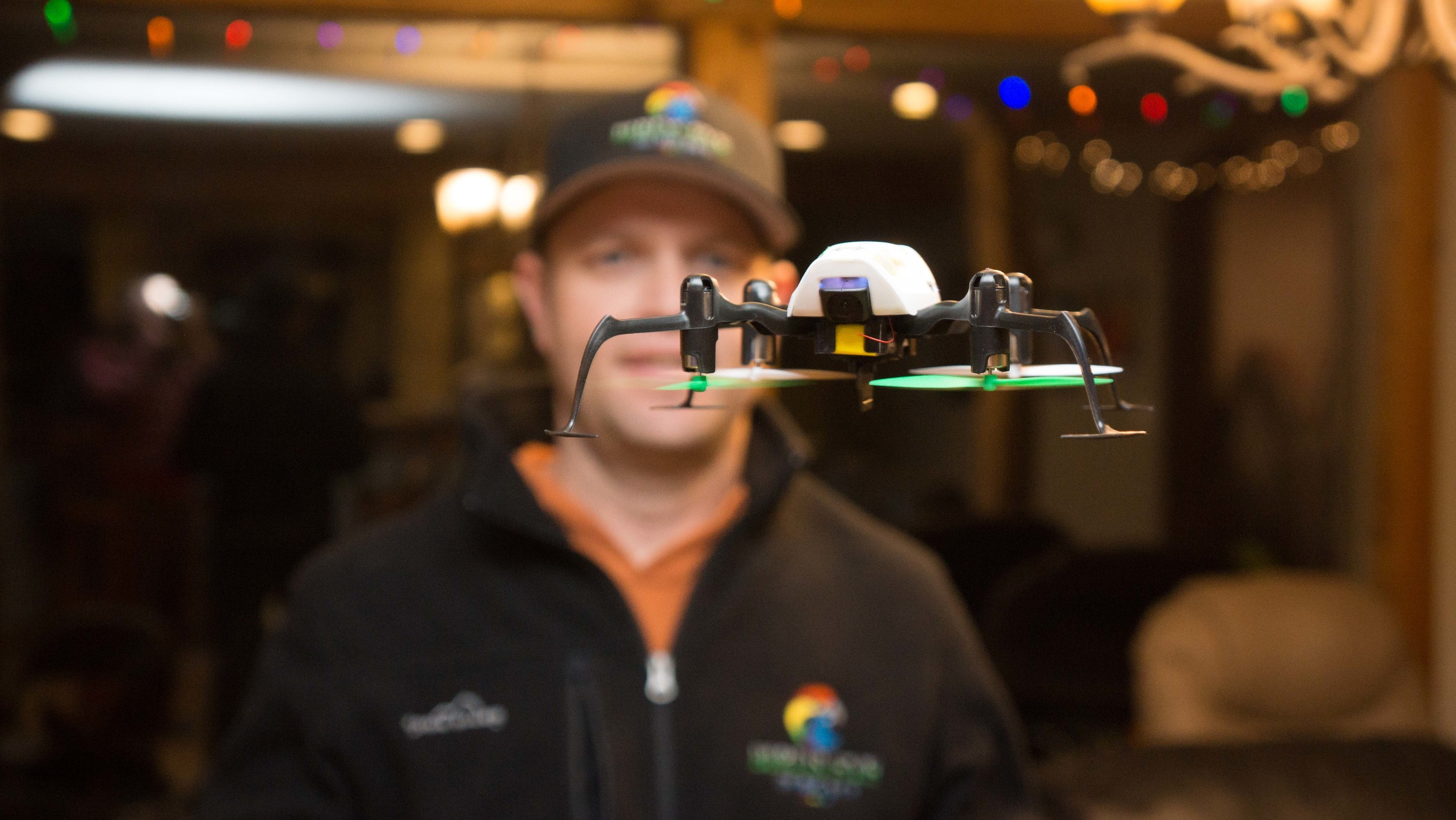 Our pilot Matt flies a Blade GLIMPSE FPV Quadcopter.