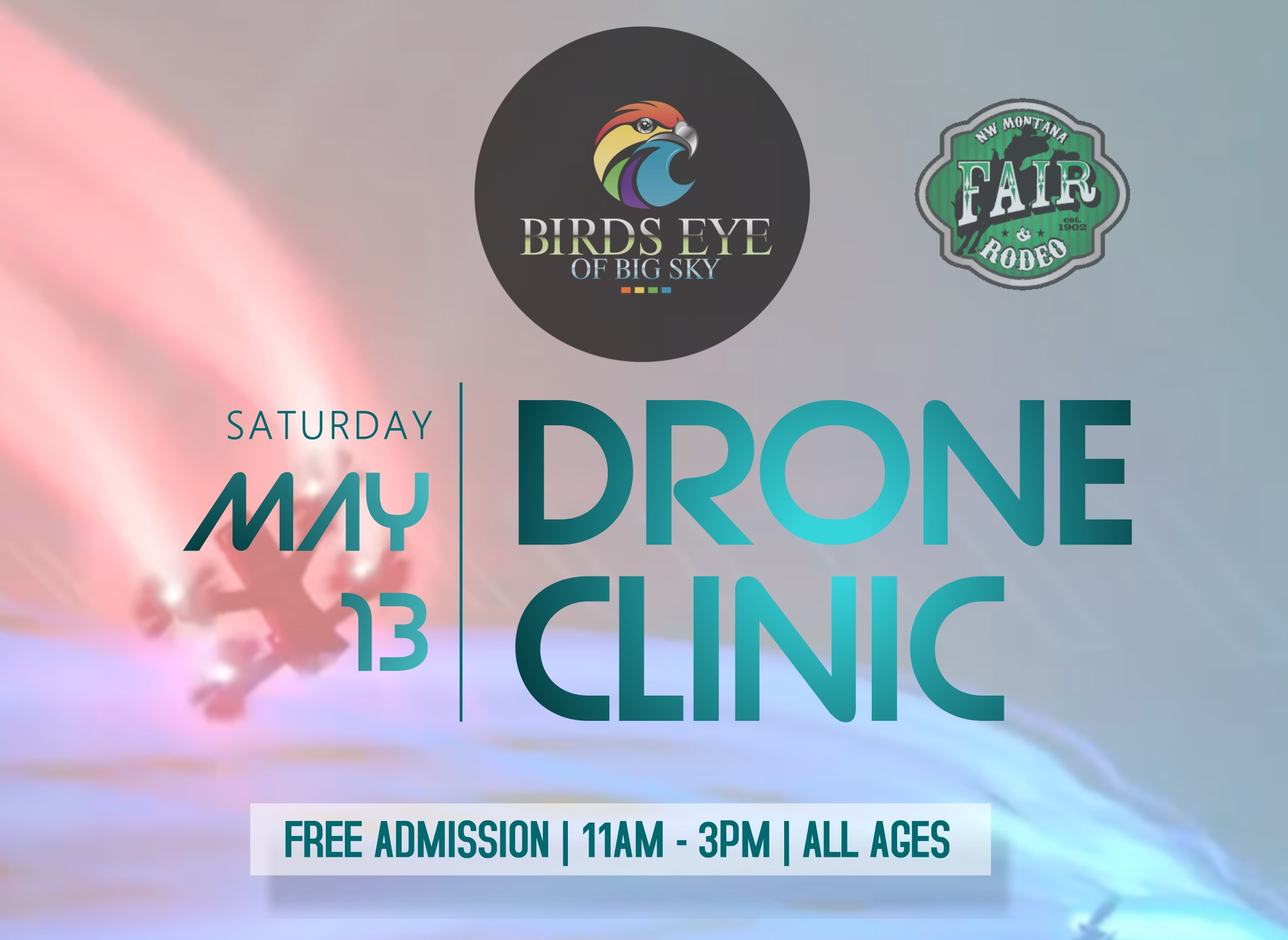 Birds Eye of Big Sky will talk about how drones are currently being used in various industries to improve workforce opportunity, basic regulations on recreational or commercial flight, and how mindful drone flight can help manage stress.