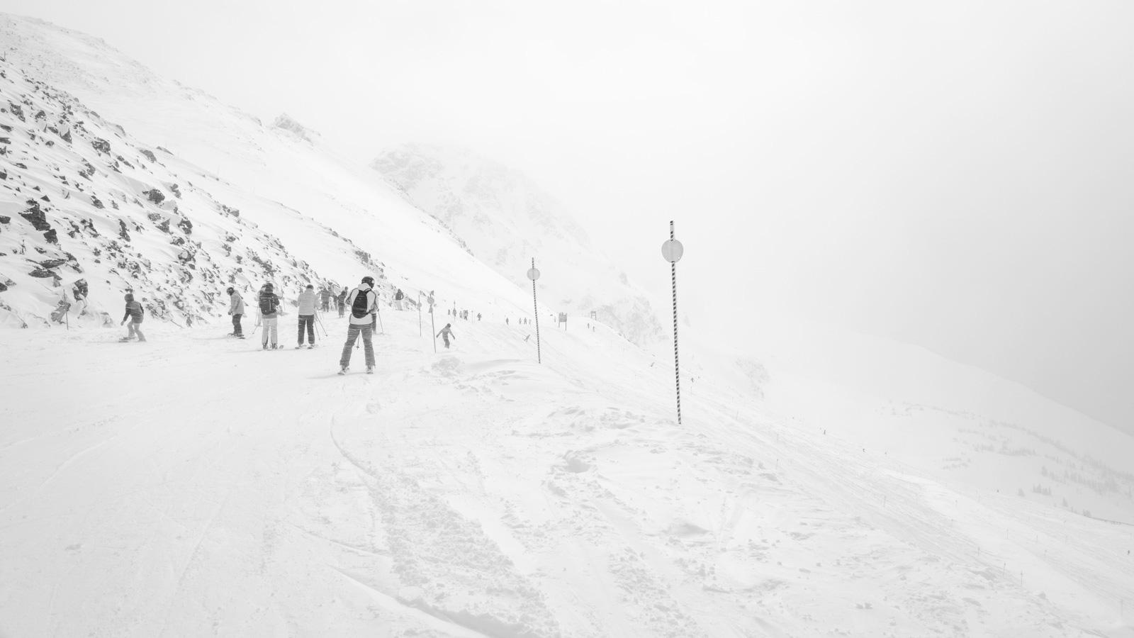 Skiing IX, 2018.