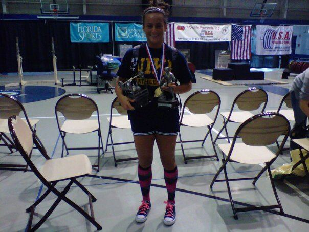 2010 U.S.A Power lifting Competition, 1st place - Women's 125lb weight division.