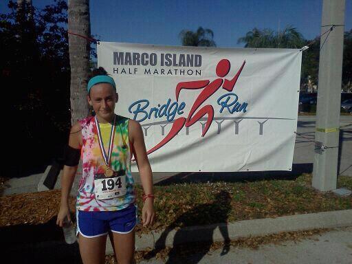 2011 Marco Island Half Marathon, 2:18 minutes.