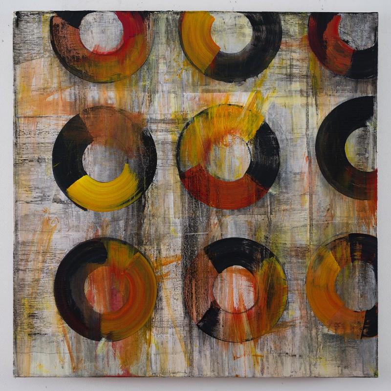 Acrylic on canvas. 3'x 3'