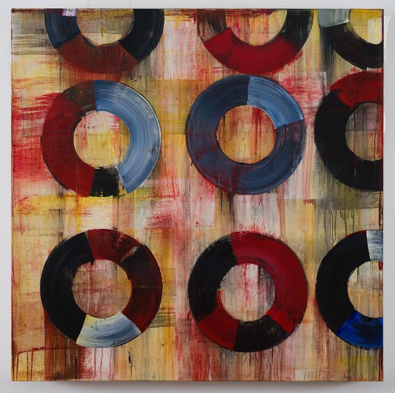 Acrylic on canvas. 4'x 4'