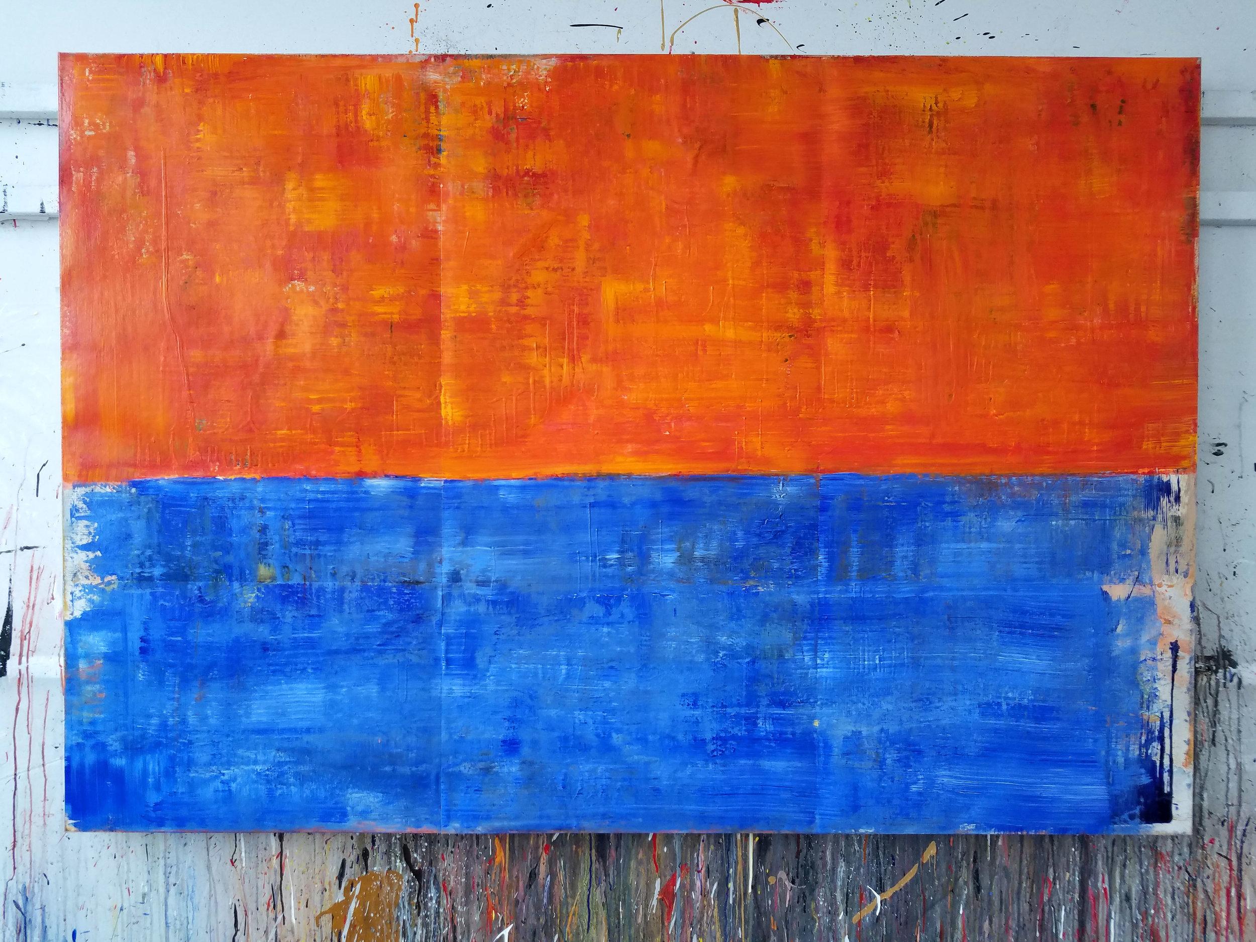"""Acrylic on canvas. 50"""" x 73"""""""