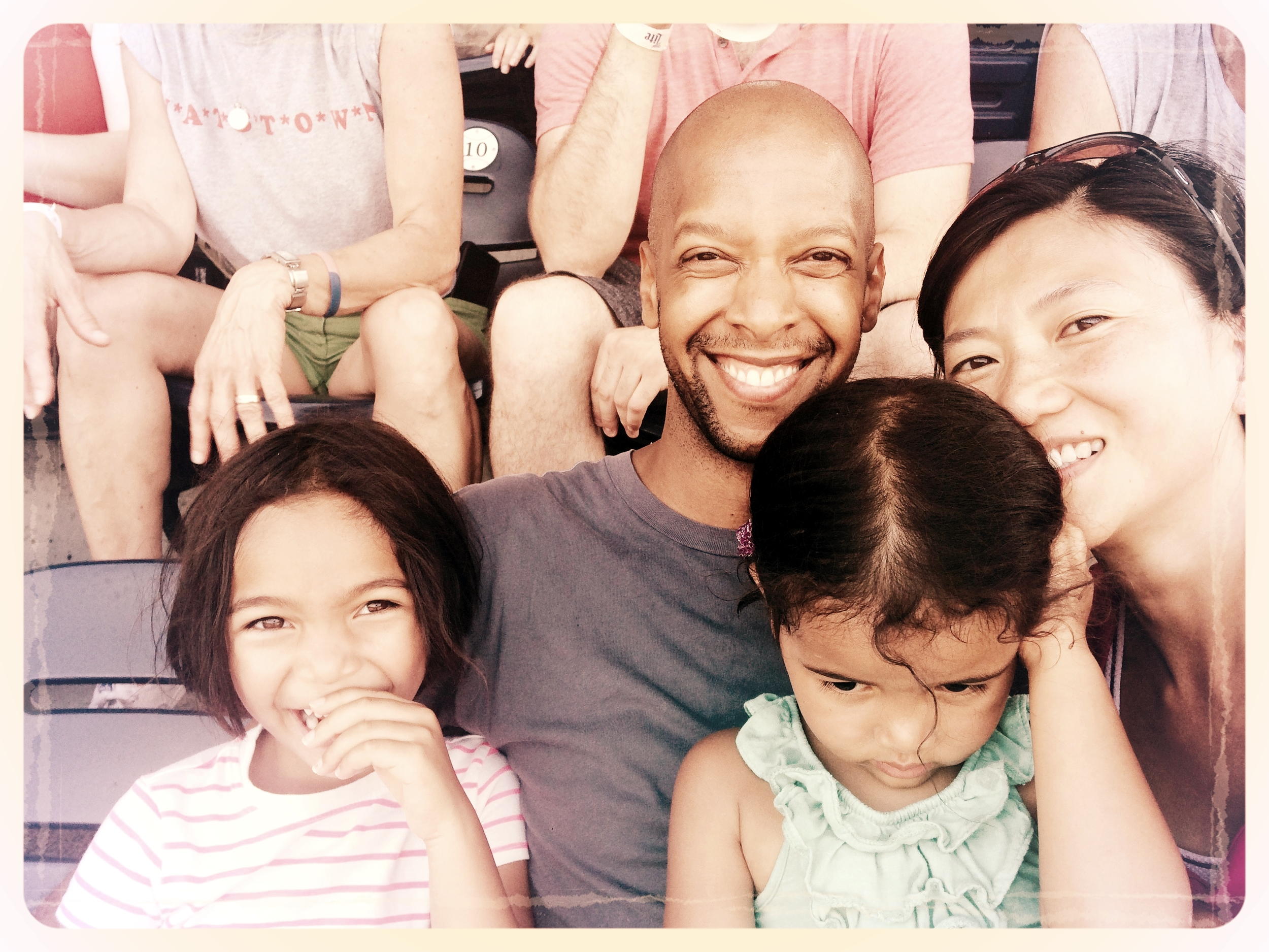 Warren with his wife and two daughters