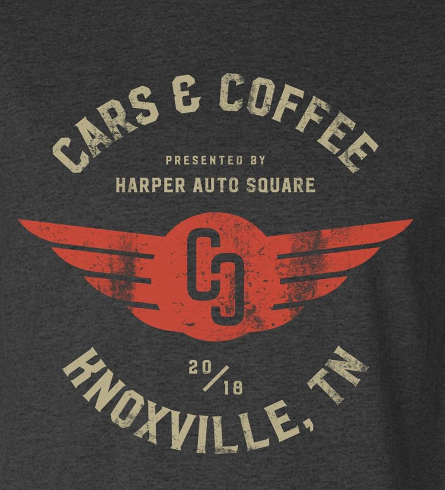 Harper Auto Square's Cars & Coffee 2018 T-Shirt by Label Industries (Grey)