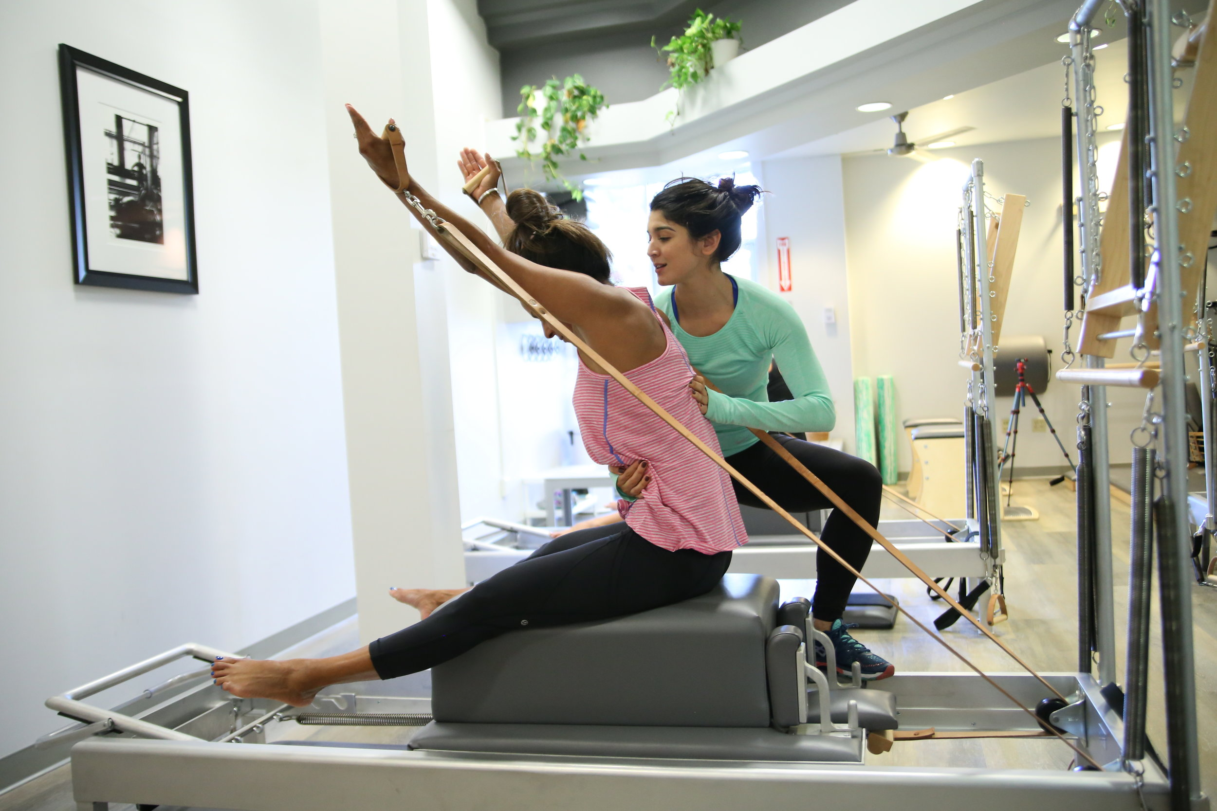 PRIVATE/ SEMI-PRIVATE SESSIONS - Experience Pilates as the system it was designed to be. Utilizing all pieces of Pilates equipment, Each 55-minute session is tailored specifically for the client to address personal fitness goals, retrain after an injury, or build a deeper knowledge of  the Classical Pilates Method.