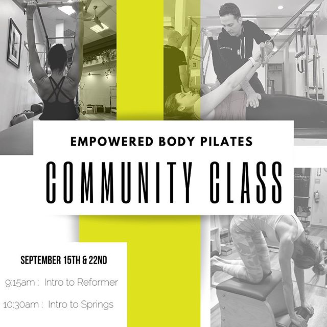 We're getting ready to celebrate our 3 year anniversary and our new junior teachers with a community open house! Join us Sunday September 15th and 22nd for two group classes and 30 minute introduction sessions. Classes are $10.00 and proceeds got to our Empowered Mind Scholarship fund. DM for more details! #empoweredbodypilates #empoweredbody #pilateslosaltos #losaltos #losaltoshills