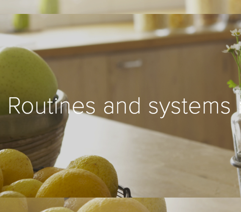 ROUTINES & SYSTEMS MAKE LIFE EASIER