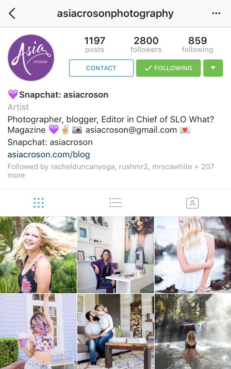 Asia Croson Instagram