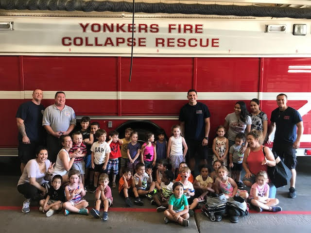 Preschool walking trip to our local firehouse.