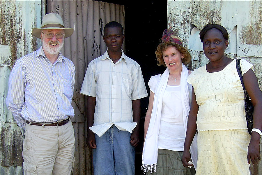 From left: Brendan, Dickens, Tricia and Felgona.