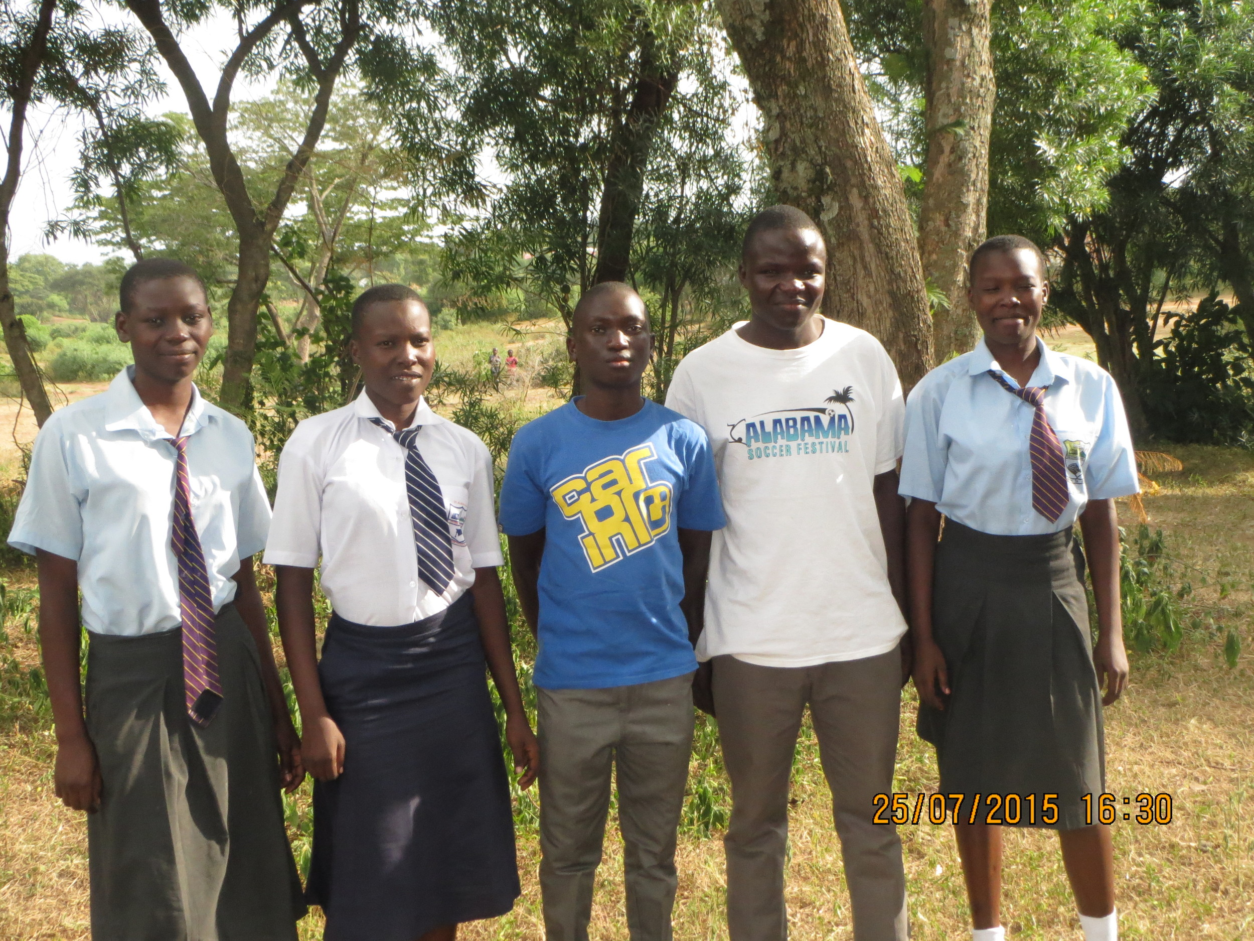 Nancy, Lorrine, Kennedy, Brian and Lavine are Secondary School students supported by KOFUP