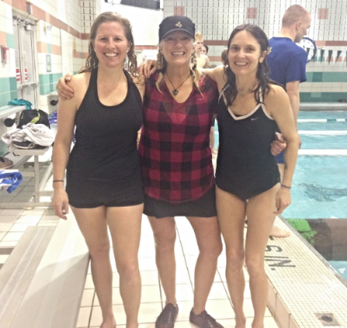 Shannon Bryan, Timber Tine, Holly Twining - we gave log rolling a try at the Y!