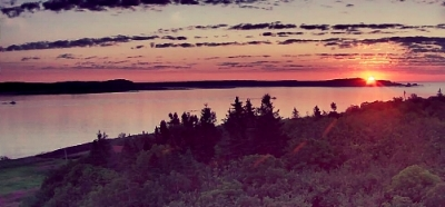 the sensational sunrise we'll see from West Quoddy Station
