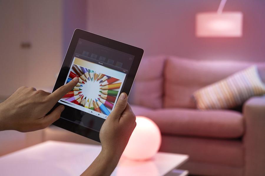 Con la aplicación de Philips Hue puedes usar como paleta de color para tu iluminación cualquier imagen.