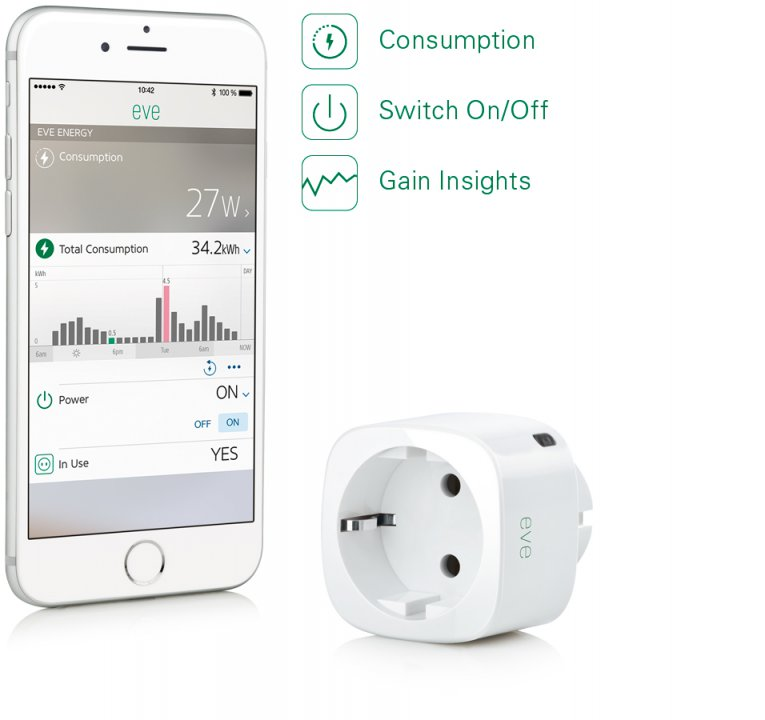 Controla el encendido y apagado el consumo y el ahorro.