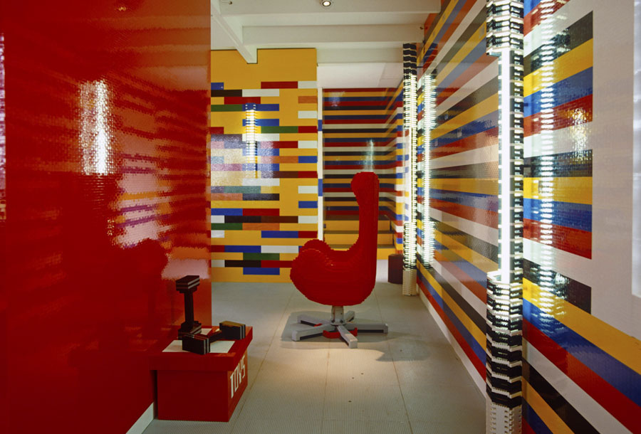 Interior de la casa Lego