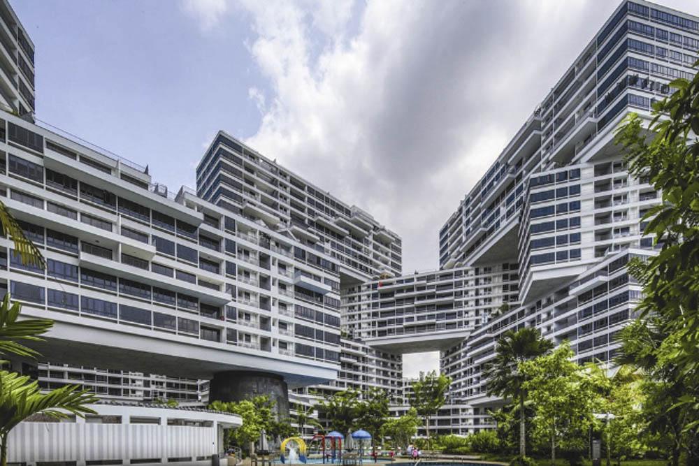 Imagen del proyecto Interlace en Singapur, uno de los posibles beneficiados de los ascensores horizontales