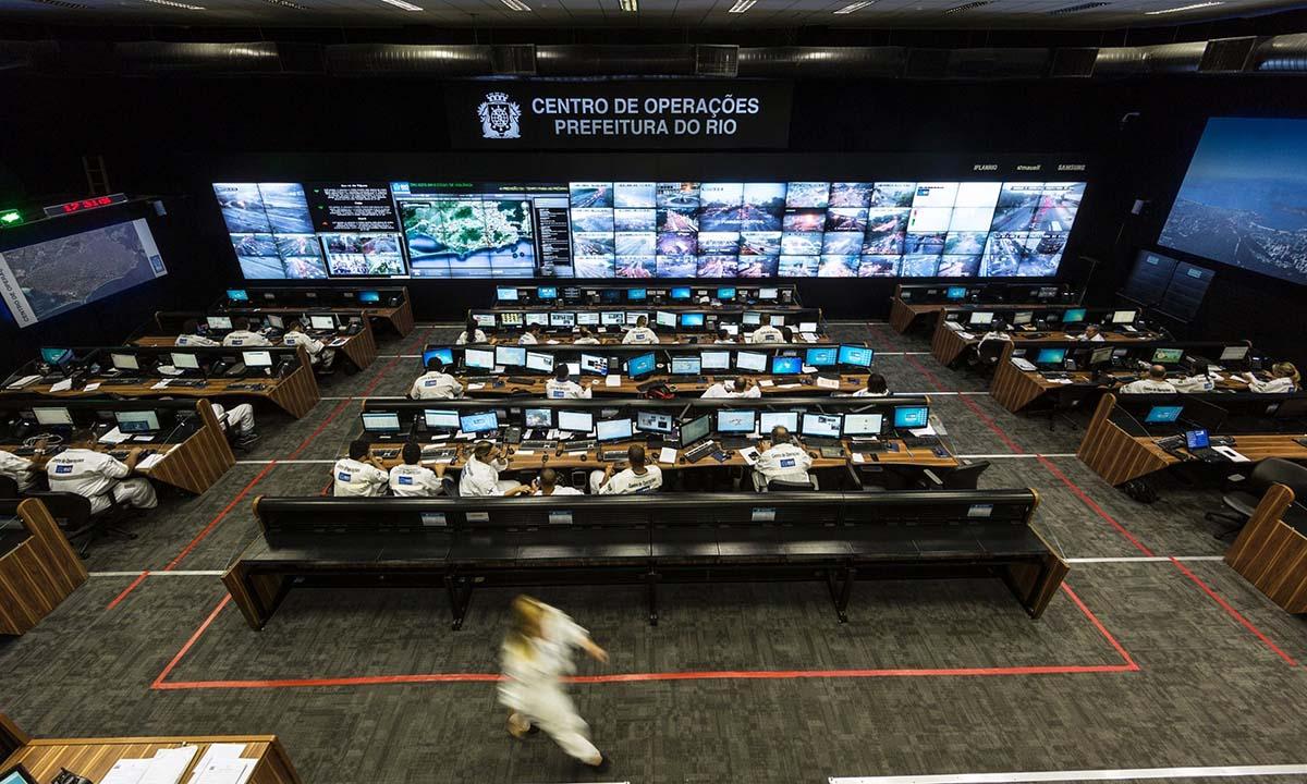 Centro de control de la ciudad de Río de Janeiro, sistema instalado por IBM