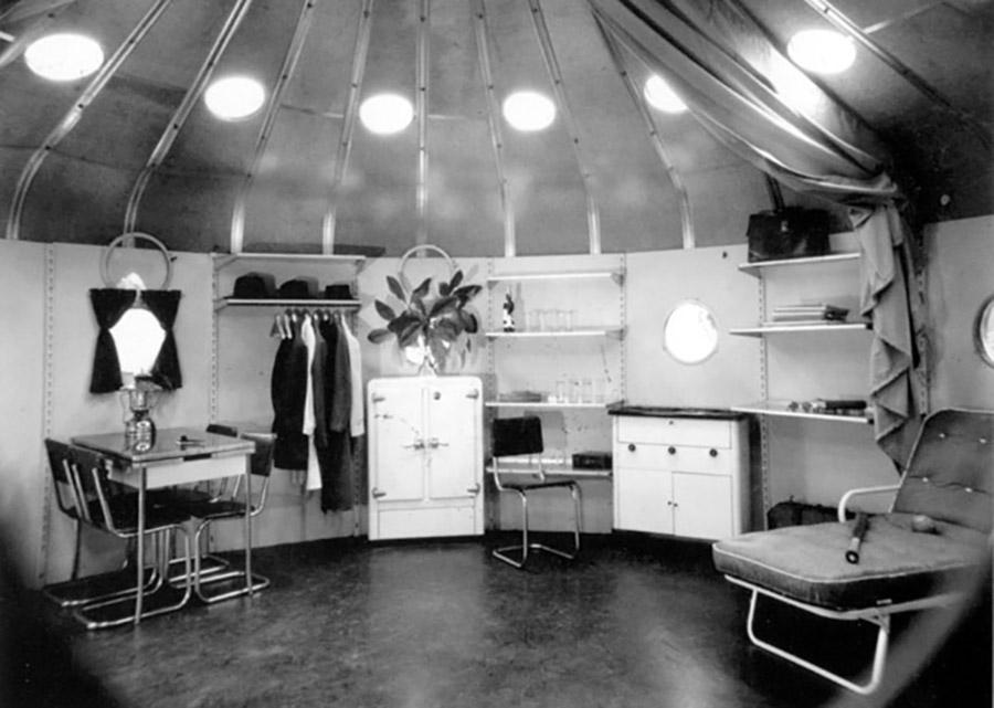 Interior de la Dymaxion House, Buckminster Fuller