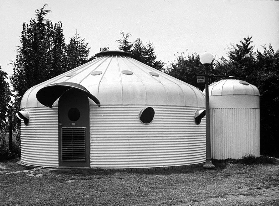 Exterior de la Dymaxion House, Buckminster Fuller