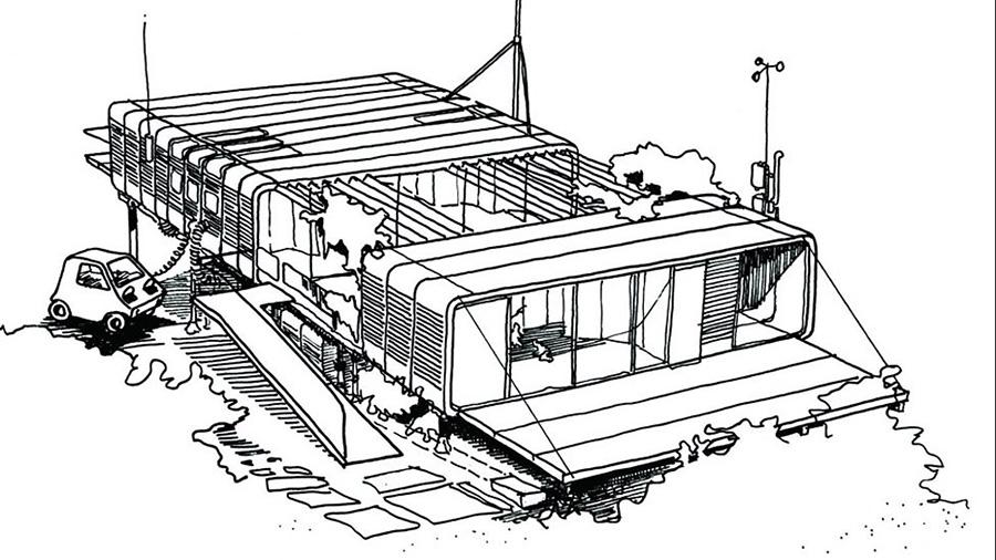 La Zip-up House de Richard Rogers, un prototipo de vivienda prefabricada, modular y adaptable