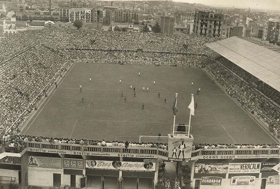 Estadio de Les Corts, el antiguo estadio del Barcelona F.C.