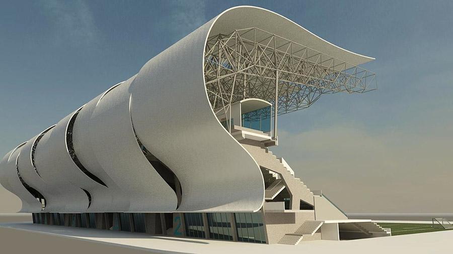 Remodelación de la tribuna principal del estadio Balaídos.